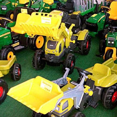 Tractores de juguete en Lorca